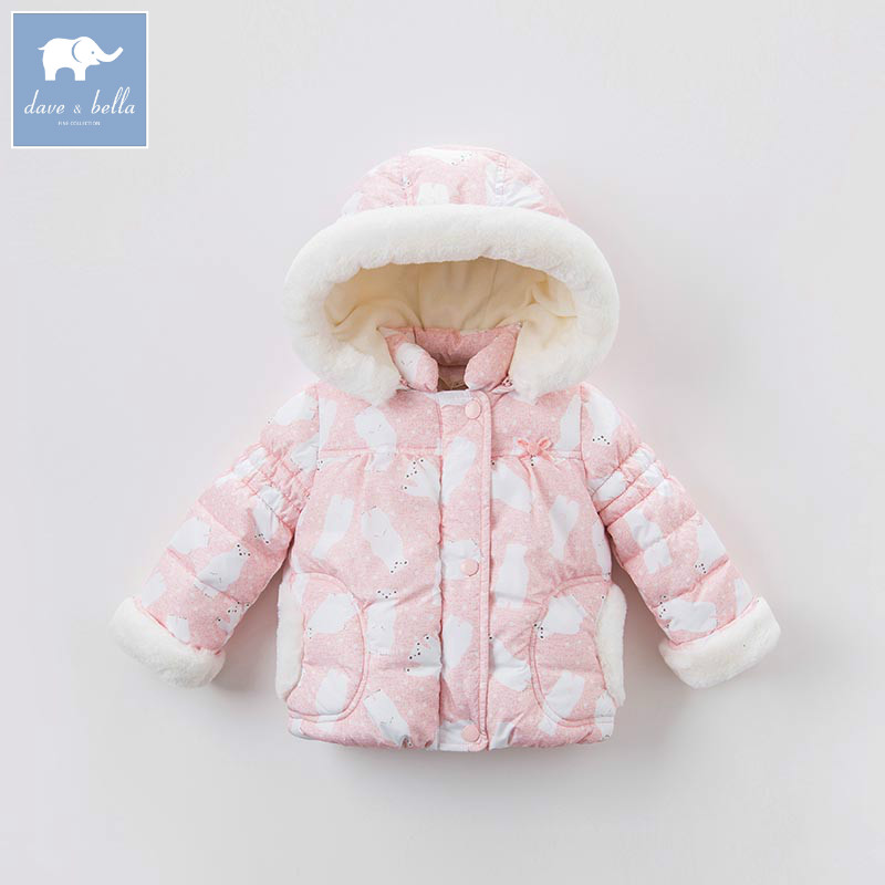 8200ae844263 Dbm6693 dave bella winter infant baby girl bears printed jackets ...