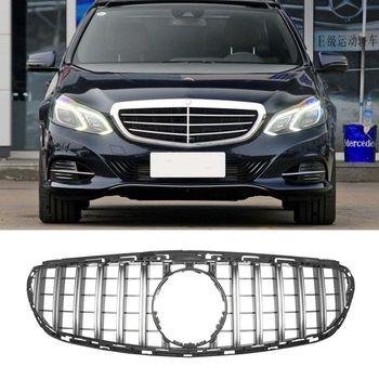 W212 グリル gt gtr 黒エンブレムフロントバンパーグリルベンツ e クラス 2013-2015