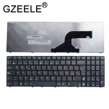 GZEELE Spanish SP laptop keyboard for ASUS x55u 0knb0-6221sp00 AENJ2P01210 NJ2 black цена 2017