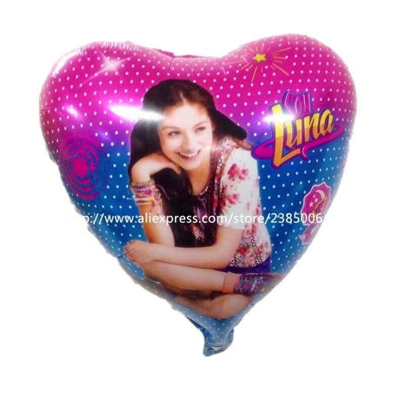 Новое поступление! 10 шт./лот соевый Luna 18 Фольга шары для девочек День Рождения украшения сердце мультфильм гелия надувные игрушки.