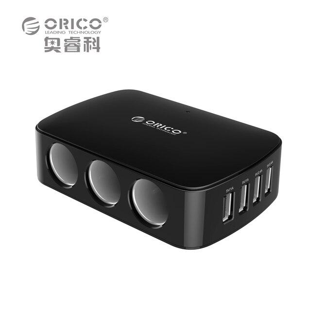 Carregador de Carro USB, 3 sockets120w no carro adaptador para acendedor de splitter carregador com micro usb 4 portas 7.2a36 para 12 v do cigarro do carro