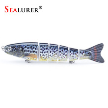 SEALURER 1PCS 5.1″/13cm Multi 6 Jointed Saltwater Fishing Lures Bait Fly Fishing Minnow Trout Swimbait High Quality New