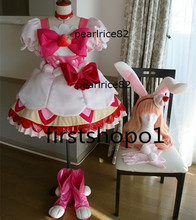 KiraKira jolie Cure A La Mode costume Cure fouet Usami Ichika rose cosplay robe comprend des chaussures(China)