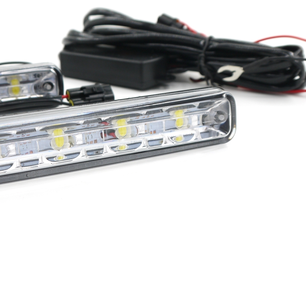 Eonstime 12V / 24V 2pcs DC bela 6LED DRL avtomobilska lučka LED - Avtomobilske luči - Fotografija 2