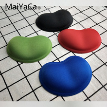 купить MaiYaCa Silicone Wavy Mouse Pad Wrist Rest Build-in Soft Sponge Mouse Pad Ergonomic Anti-skid Mat Hand Wrist Gaming дешево