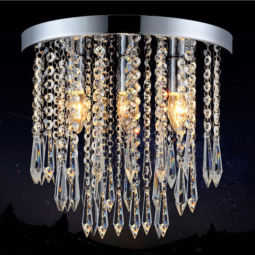Modern Led Ceiling Lights Hot Sale Led Crystal Ceiling Lamp  Aisle Balcony Lustre Led Lights 100% Quality Assurance noosion modern led ceiling lamp for bedroom room black and white color with crystal plafon techo iluminacion lustre de plafond