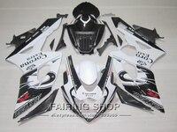 Top Selling Injection Molding Plastic Fairings For Suzuki GSXR1000 K5 K6 White Black 2005 Fairing Kit