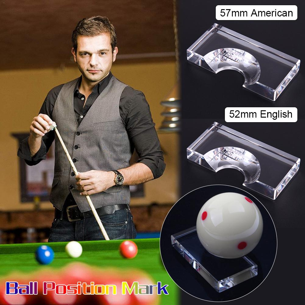 Transparent Color Acrylic Snooker Billiards Position Marker Billiard Supplies For Pool Ball Snooker Accessories Clear New