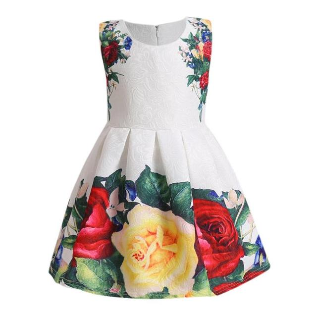 120f64eede Fashion Floral Print Ball Gown Sleeveless Girls Kids Evening Party  Dresses-in Dresses from Mother & Kids on Aliexpress.com | Alibaba Group