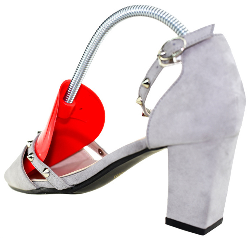 1 Pair Plastic Shoe Tree  Shoes Stretcher Shaper Spring Loaded for Women Shoes