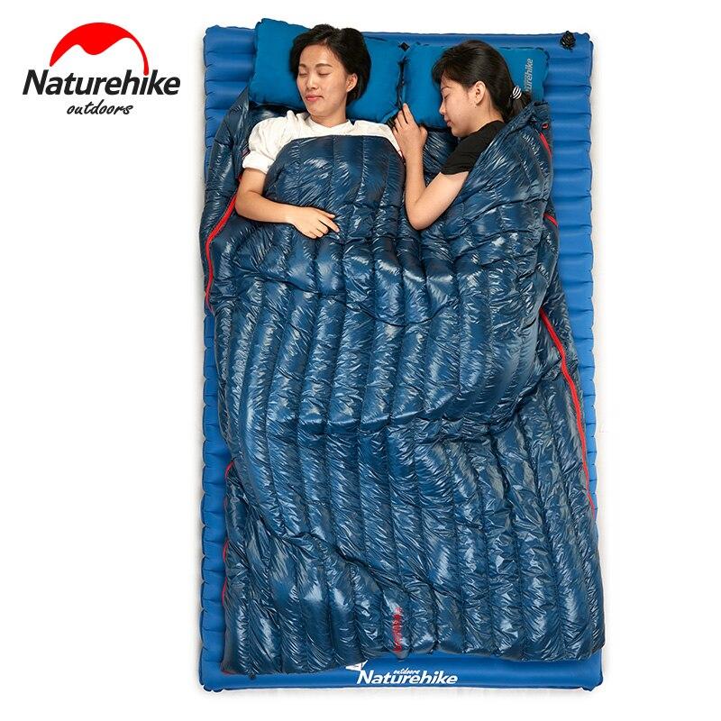 Naturetrekking 570g ultra-léger imperméable à l'eau en duvet d'oie blanche sac de couchage enveloppe Type paresseux sac Camping sacs de couchage NH17Y010-R - 6