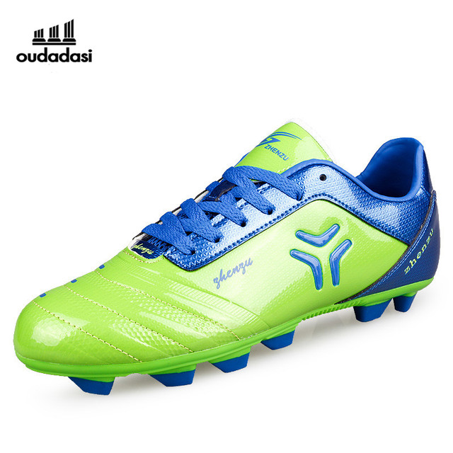 8290faa69259 Turf Sneakers Football Shockproof Soccer Boots For Men Red Blue Girls Footy  Boots New Cool Artificial Turf For Football
