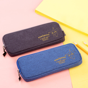 Picacho Simple Canvas Zipper Pencil Bag Stationery Bag Trousse Scolaire Stylo Kawaii Schulbedarf Girls Pencil Case For School kawaii small fresh canvas zipper pencil cases kawaii dot fashion for women school supplie stationery bag