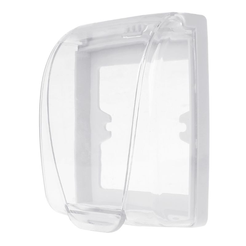 Plastic Wall Switch Waterproof Cover Box Wall Light Panel Socket Doorbell Flip Cap Cover Clear Bathroom Kitchen Accessory