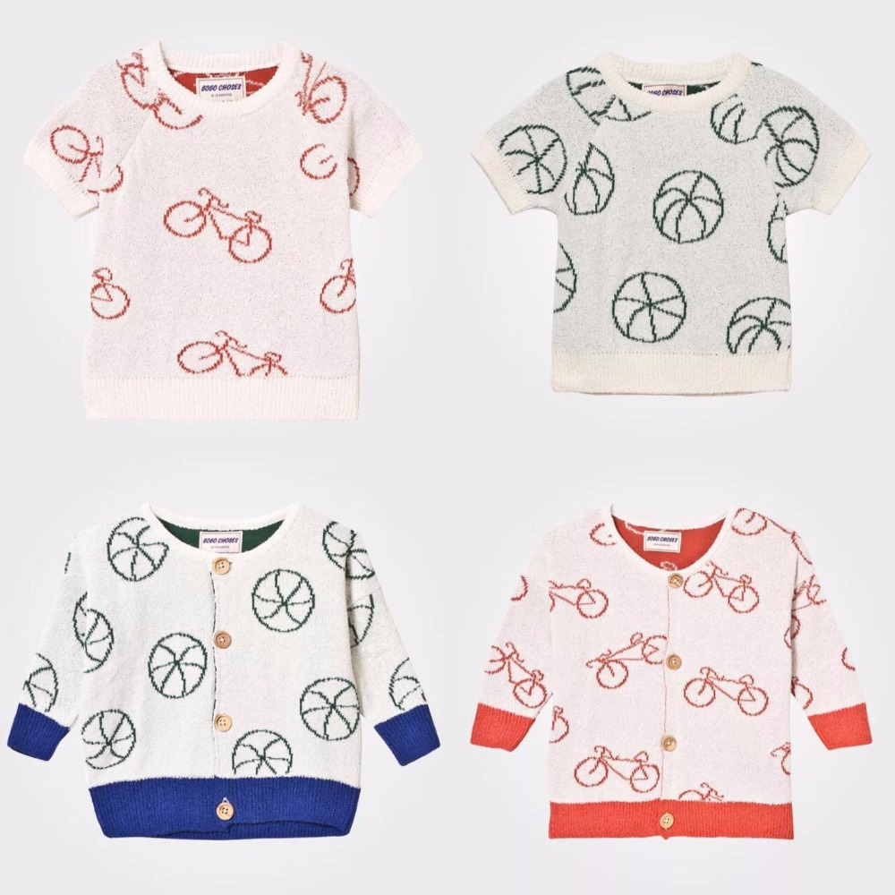 f100458feace Pre Order Middle Of March Kids Bobo Choses Tops 2017 Baby Summer ...