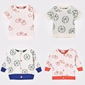 Pre-Order  Middle Of March Kids Bobo Choses Tops 2017 Baby Summer Girls Short Sleeve T Shirts Pattern Ball Bike Cicishop A*
