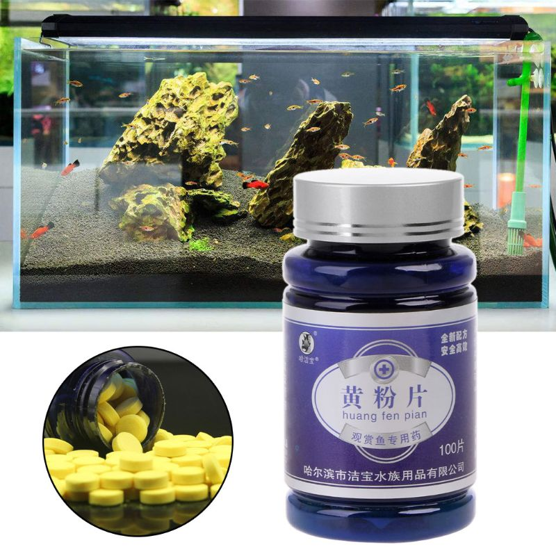 2019 New 100pcs Fish Antibiotics Medicine For Injured Rotten Fin Drugs Prevent Infection Pet Supplies