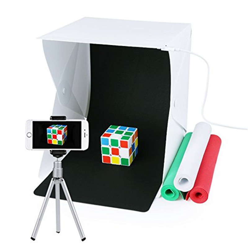 Portable Photo Studio,URiver Mini Folding Table Top LED