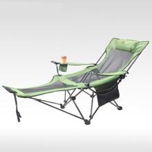 야외 접는 안락 의자 휴대용 뒤로 낚시 의자 야생 캠핑 레저 해변 의자 옥스포드 천 스테인레스 스틸 접는 의자