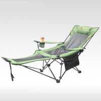 Outdoor Folding Recliner Portable Back Fishing Chair Wild Camping Leisure Beach Stool Stainless Steel Folding Chair