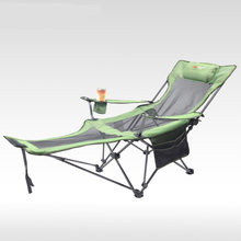 Outdoor folding recliner portable back fishing chair wild camping leisure beach stool stainless steel folding chair(China)
