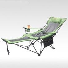 Outdoor vouwen fauteuil draagbare back vissen stoel wilde camping leisure strand kruk Oxford Doek roestvrijstalen klapstoel
