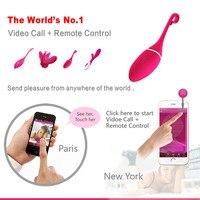 Smart Phone REALOV APP Wireless Vibrating Toys Bluetooth Control G sport Clitoris Stimulator Vibrators Sex Toy Massage Jump Eggs