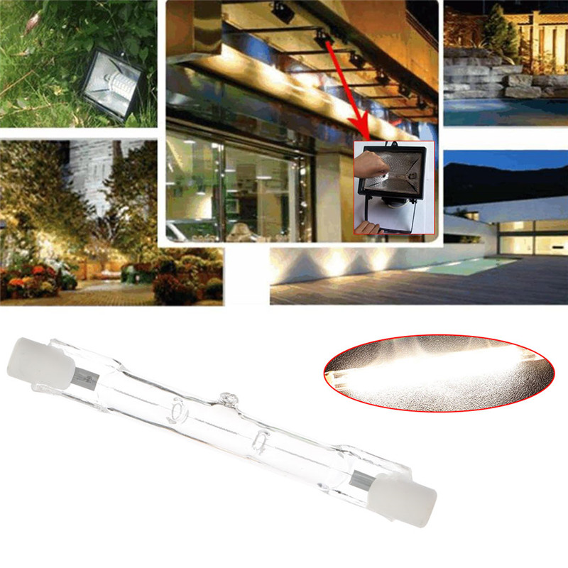 1PC R7s Halogen Bulb 48W Halogen Lamp 78mm Double Ended Linear R7s Halogen Light Bulb Warm White AC 220V-240V