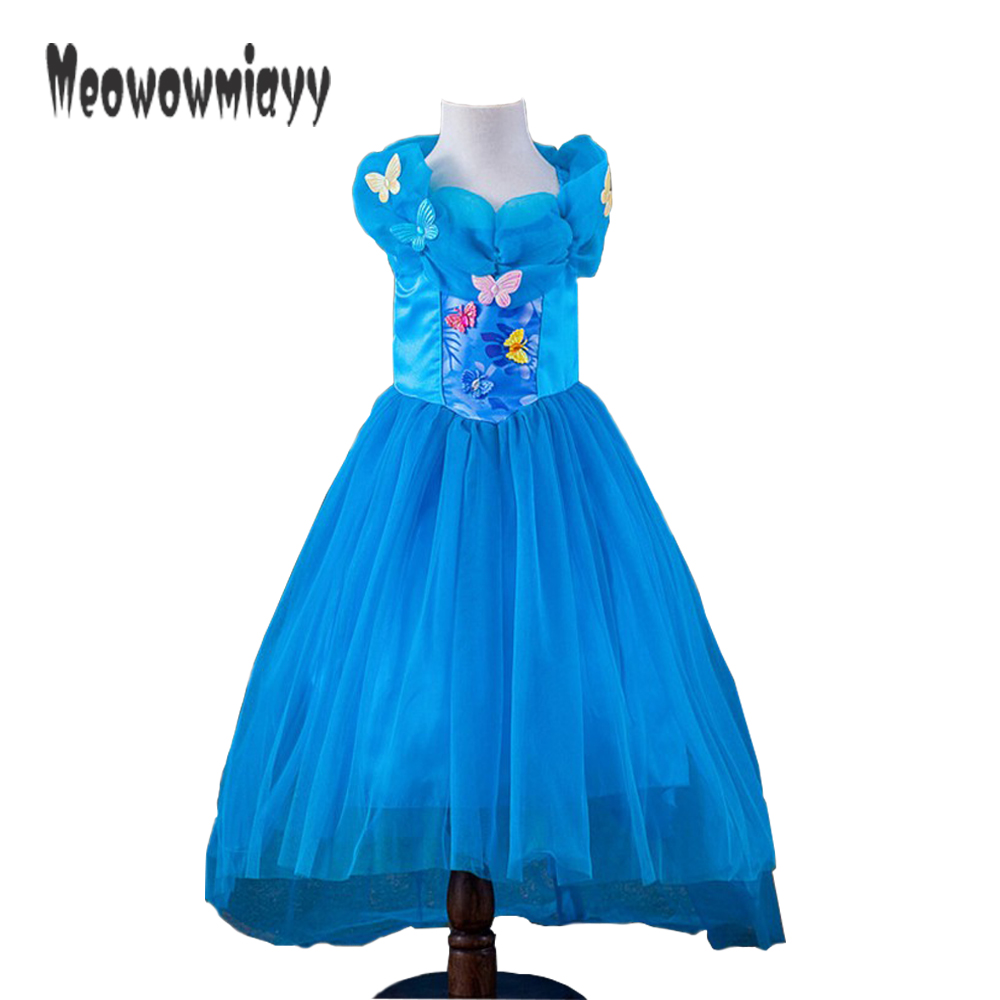 Cinderella dress 2017 kids costume girls clothes blue cinderella costume girls summer dresses for party and wedding помады nyx professional makeup гель помада plush gel lipstick foxy love 05