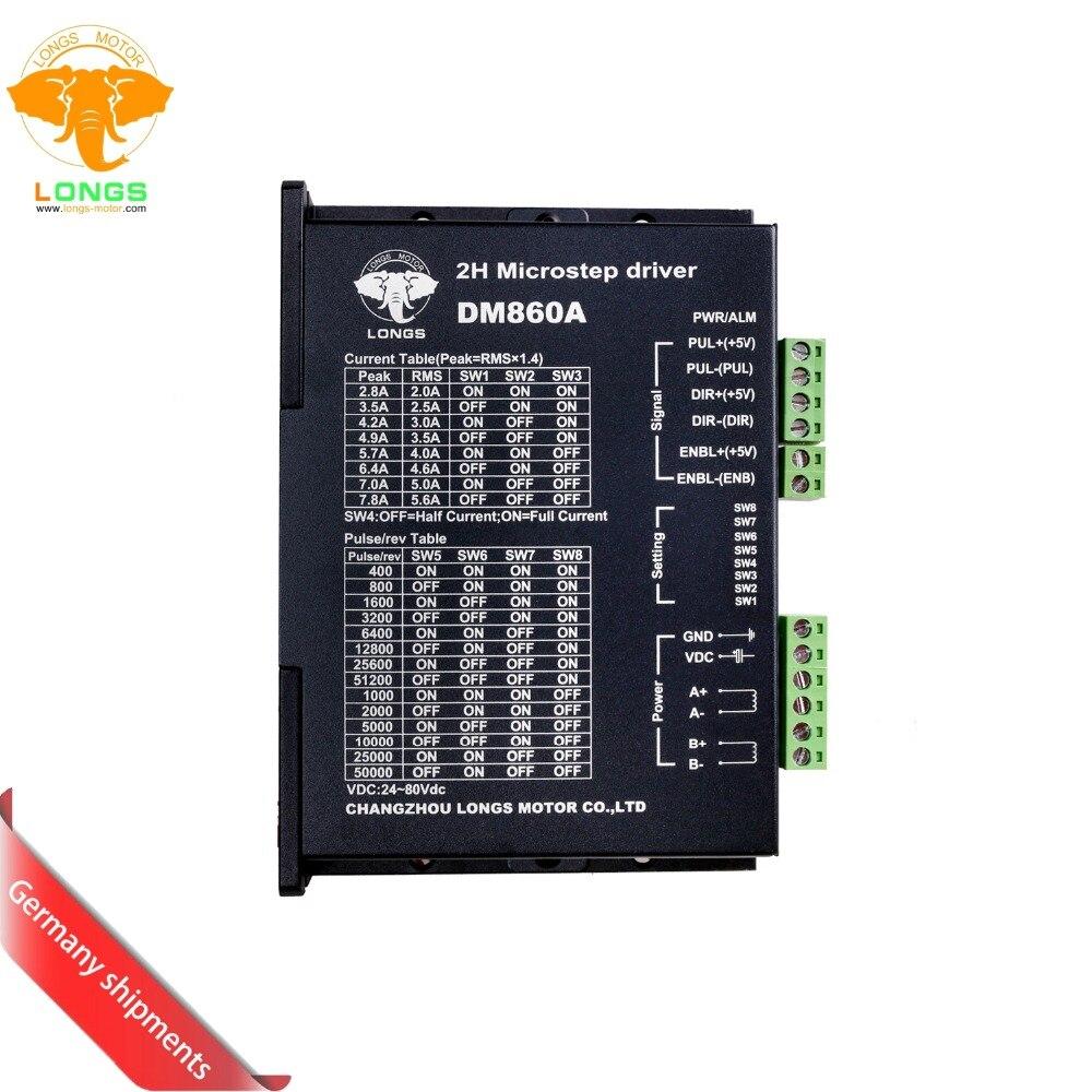 EU Free ship 3 8days ship Stepper motor driver digital controller DM860A peak 7 8A 256