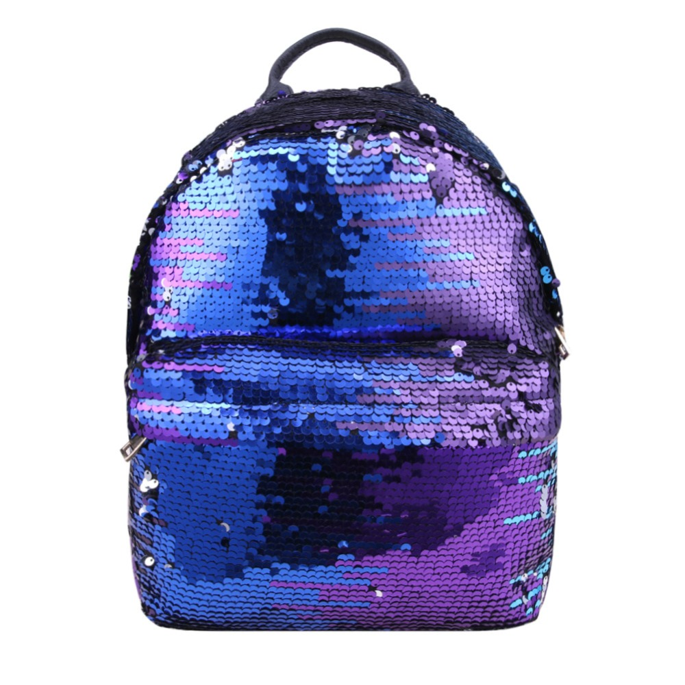 Sequins Backpacks Women PU mochila Shine Backpack Glitter Large Girls Travel Shoulder Bags Fashion Brand Black School Bag female
