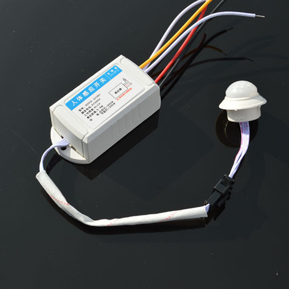 IR Infrared Body Motion Sensor Detector Automatic Light Lamp Control PIR Motion Switch 220V