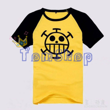 Anime One Piece Trafalgar Law Cosplay Men's Short Sleeve Cartoon T-Shirt Fashion Casual Tops Tee Shirts Costume Free Shipping