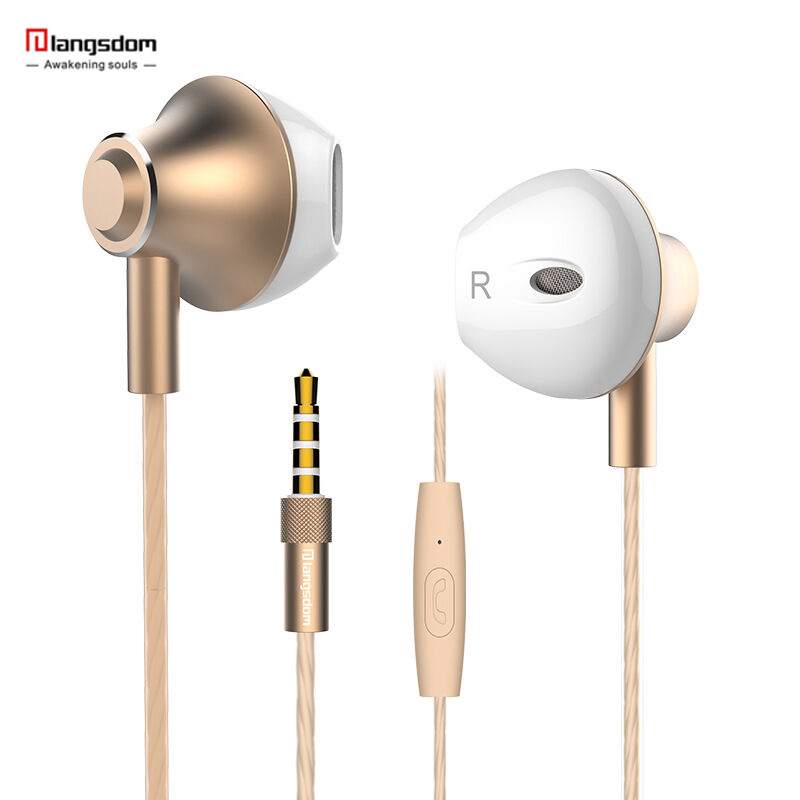 Langsdom M420 Metal in-ear Earphone with Mic Sports Headset Noise Canceling Stereo Bass Headphone for Computer iPhone xiaomi original fashion bluedio t2 turbo wireless bluetooth 4 1 stereo headphone noise canceling headset with mic high bass quality