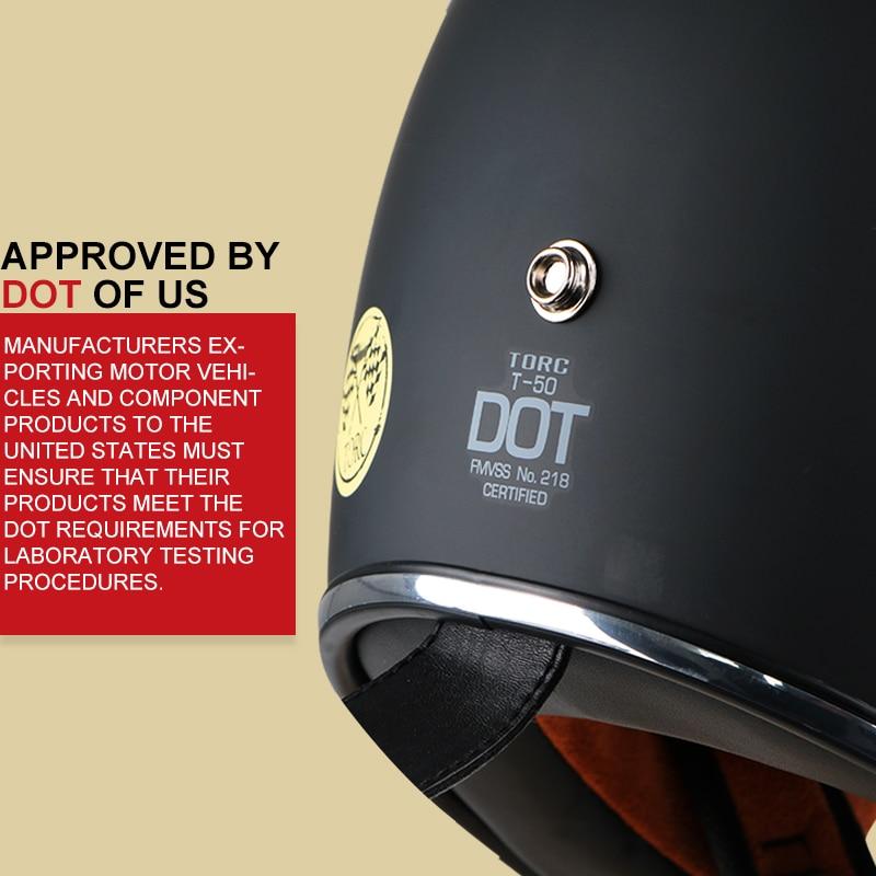 TORC motorcykelhjälm vintage öppet ansikte motorcykel motocross jet - Motorcykel tillbehör och delar - Foto 5