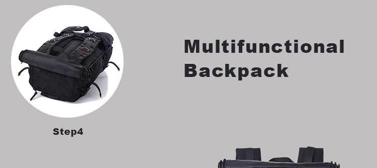 KAKA Men Backpack Travel Bag Large Capacity Versatile Utility Mountaineering Multifunctional Waterproof Backpack Luggage Bag 9