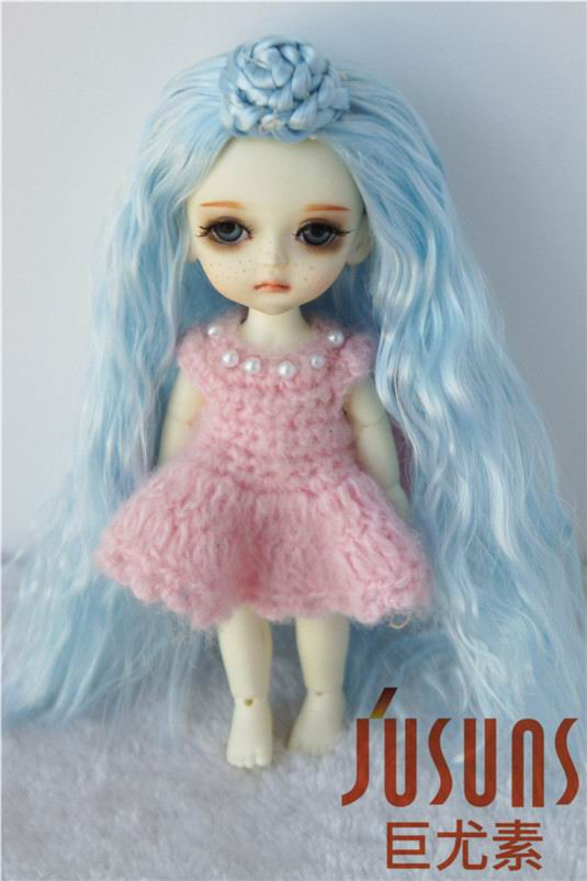 купить JD097  Lati yellow size wig  Ballet synthetic mohair BJD doll wig 5-6inch BJD doll accessories дешево