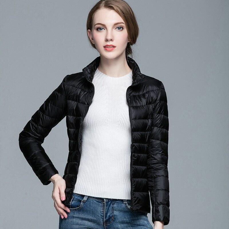 Для женщин S Подпушка куртка Ultra Light Packable куртка на гусином пуху Для женщин Стенд воротник Тонкий тонкий зимние Мужские парки с сумка ткань jk-636