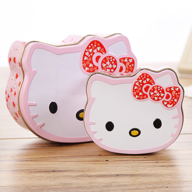 f1c94e1de Cartoon Hello Kitty Mini Tin Metal Box Sealed Jar Candy Boxes Jewelry  Storage Box Coin Earrings Headphones Gift Cans 6C4
