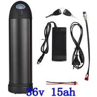 US EU Free Tax Electric Bike Battery 36V 15AH Water bottle 18650 li ion Battery 36V 500W E Bike kettle battery with Charger+ BMS