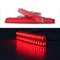 2X Red Lens 24 LED Rear Bumper Reflector Tail Brake Light 04 09 For Mazda3 Mazda