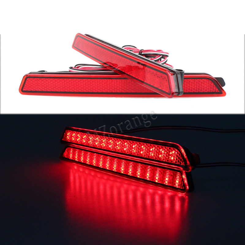 2X Red Lens 24LED Rear Bumper Reflector Lamp Stop Warning Tail Brake Light 04-09 Car Styling For Mazda3 Mazda3 Axela Mazdaspeed3 novsight auto car led rear bumper warning light break lamp for toyota highlander 2015 2017 red tail light free shipping
