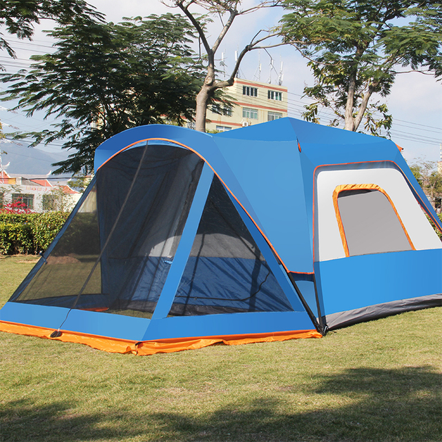 double layer 5~8 person marquee big camping tent quick ...