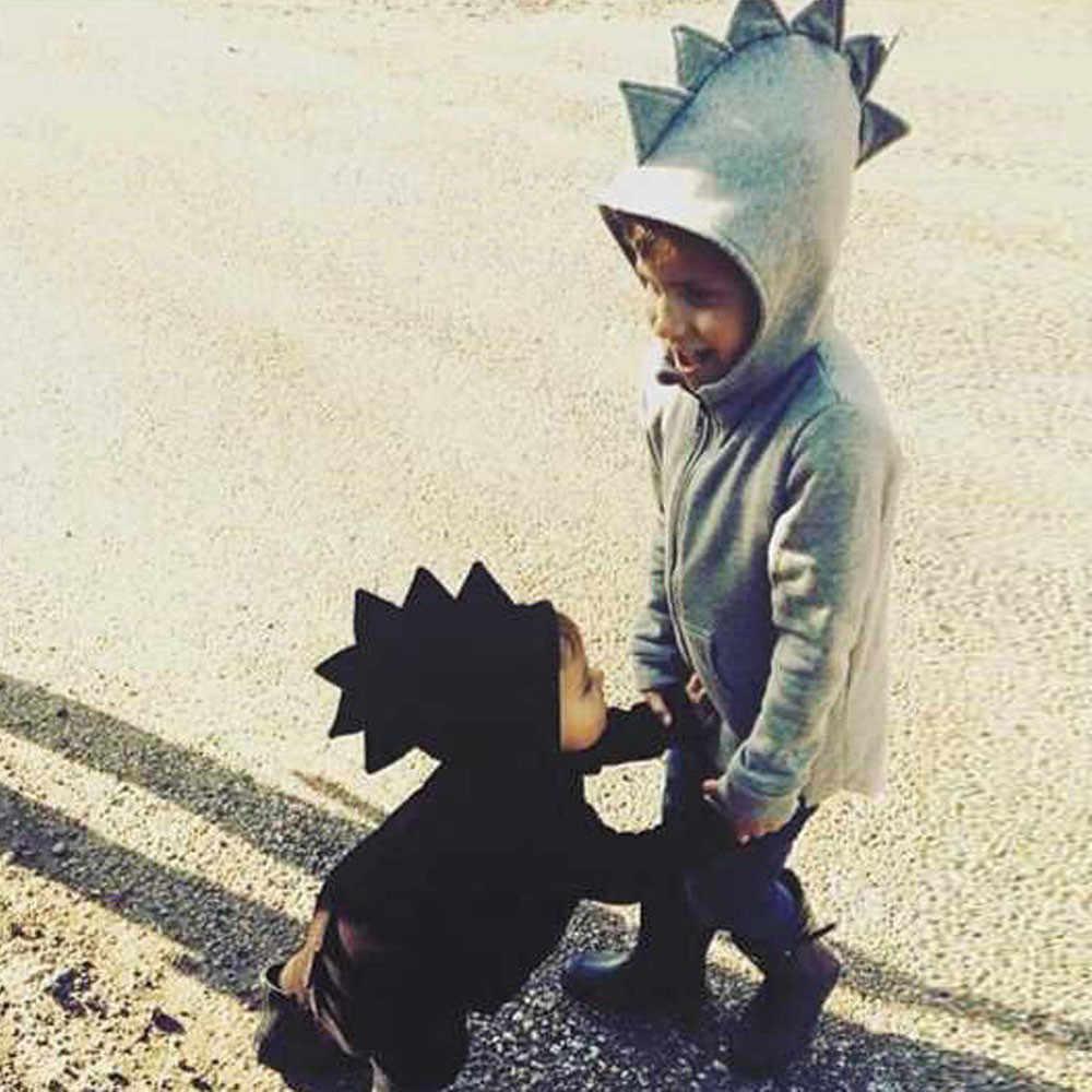 Модная детская верхняя одежда для детей, куртка в стиле динозавра с капюшоном, пальто, одежда Oct22 2018, хит продаж