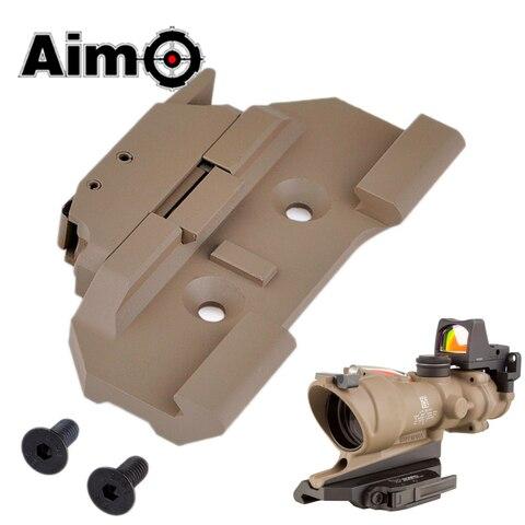 aim o airsoft ac12033 montagem de liberacao rapida para acog 4x32 escopo red dot sight
