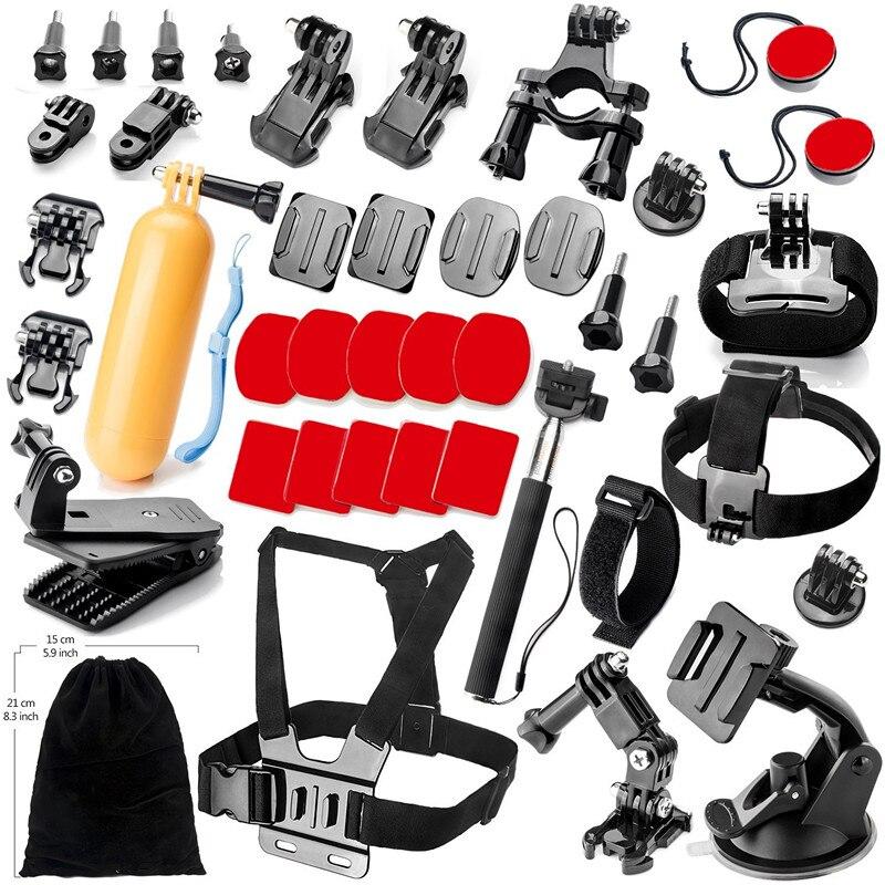 Kit d'accessoires de Sports de plein air pour GoPro Hero noir argent 5/4/3 +/3/2/1 SJ4000 SJ5000 SJ6000 pour caméra vidéo d'action