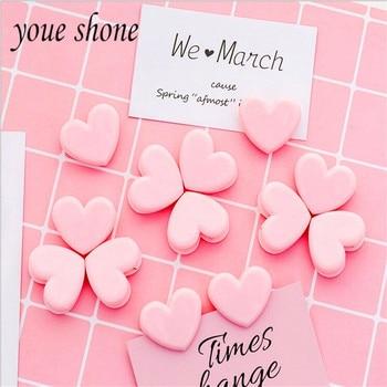 Youe shone 4pcs cute pink decorative clip Japanese girl heart love photo folder data storage sealing