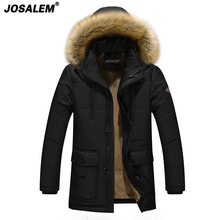 Winter New Men Fur Collar Hooded Long Parka Coat Man Thick Warm Velvet Jacket Men's Outwear Pocket Overcoats Plus Size 5xl