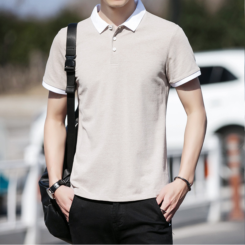 New Men's   Polo   Shirts   Polo   Shirt for Male Short Sleeve 1001#