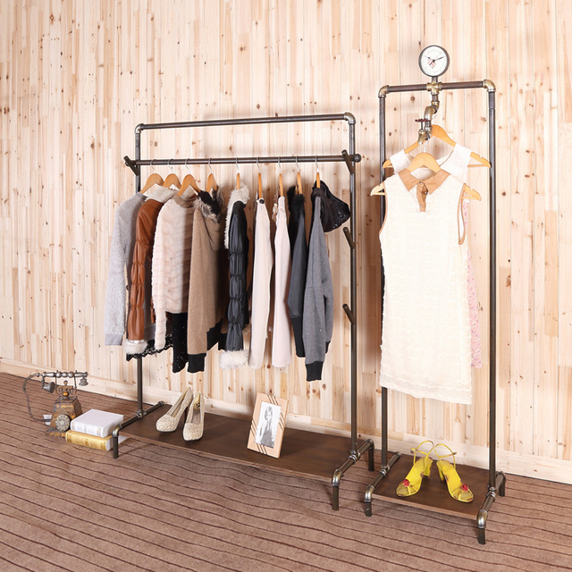 Superbe Iron Clothing Rack French Country Style Retro To Do The Old Industrial  Clothing Racks Display Clothing